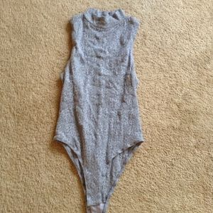 NWOT Free People Lou Lace Bodysuit